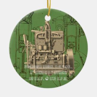 Ornamento De Cerâmica Motor de gás K de Milwaukee Wisconsin do motor de