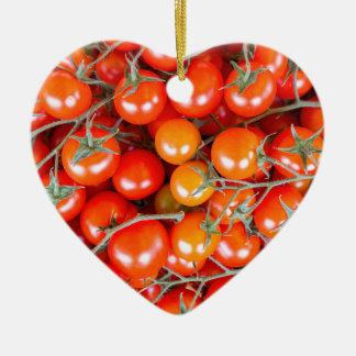 Ornamento De Cerâmica Muitos grupos de tomates vermelhos da videira