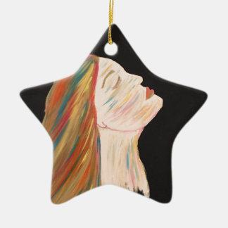 Ornamento De Cerâmica mulher da Multi-cor