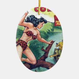 Ornamento De Cerâmica Mulher da selva