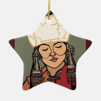 Ornamento De Cerâmica Mulher de Turkic