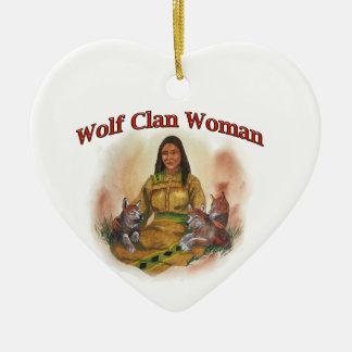 Ornamento De Cerâmica Mulher do clã do lobo