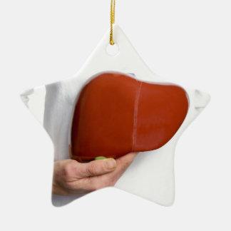 Ornamento De Cerâmica Mulher que guardara o modelo humano do fígado no