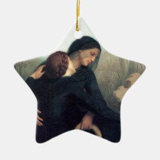 Ornamento De Cerâmica Mulheres góticos Bouguereau da cruz preta do