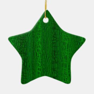 Ornamento De Cerâmica Multi fundo da cor verde