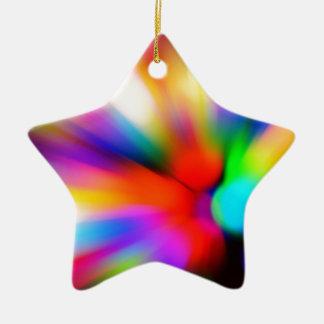 Ornamento De Cerâmica Multi luzes borradas da cor