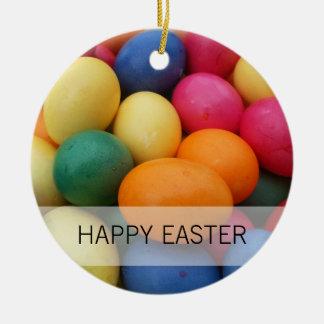 Ornamento De Cerâmica Multi ovos da páscoa coloridos festivos