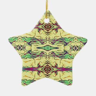 Ornamento De Cerâmica Multi teste padrão artístico colorido vibrante