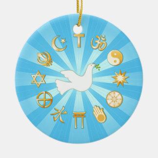 Ornamento De Cerâmica Mundo da paz