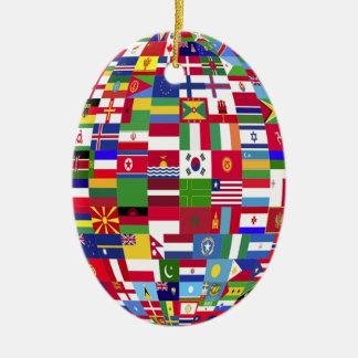 Ornamento De Cerâmica Mundo das bandeiras