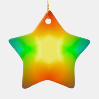 Ornamento De Cerâmica Mundo do arco-íris
