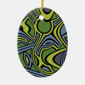 Ornamento De Cerâmica Musgo
