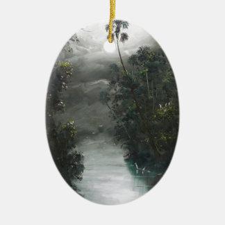 Ornamento De Cerâmica Musgo enevoado do rio de Florida
