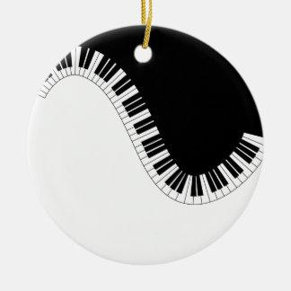 ORNAMENTO DE CERÂMICA MÚSICA DO PIANO