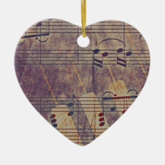Ornamento De Cerâmica Música, olhar B do vintage