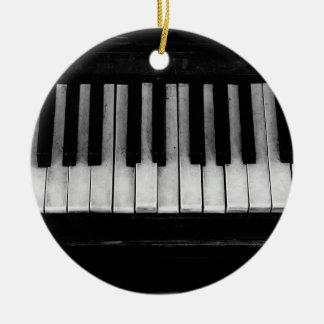 Ornamento De Cerâmica Música velha do instrumento do teclado de piano de