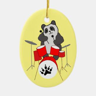 Ornamento De Cerâmica músico da panda