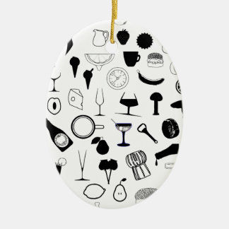 Ornamento De Cerâmica Na cozinha
