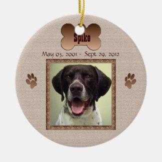 Ornamento De Cerâmica Na memória de seu cão