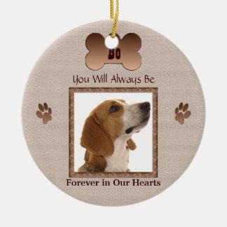 Ornamento De Cerâmica Na memória de seu cão de estimação ou gato - bege