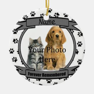 Ornamento De Cerâmica Na memória de seu cão recordado para sempre