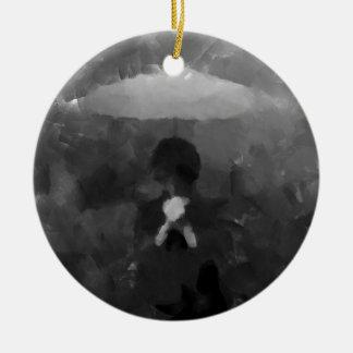Ornamento De Cerâmica Na pintura escura da arte da chuva