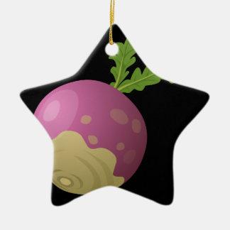 Ornamento De Cerâmica Nabo da comida do pulso aleatório