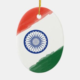 Ornamento De Cerâmica Nação nacional do país de India da bandeira