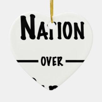 Ornamento De Cerâmica Nação sobre a coleção do presente do partido