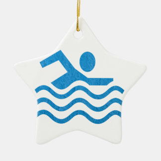 Ornamento De Cerâmica Nadador 101 da natação do sucesso da natação