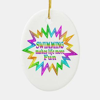 Ornamento De Cerâmica Nadando mais divertimento