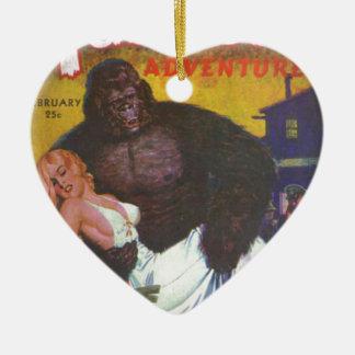 Ornamento De Cerâmica Namorado do gorila