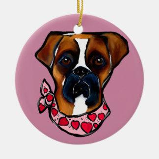 Ornamento De Cerâmica Namorados do cão do pugilista
