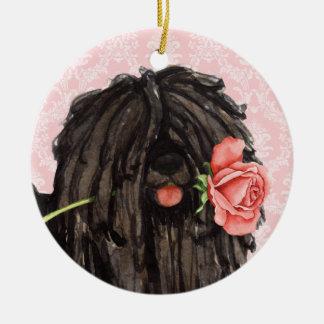 Ornamento De Cerâmica Namorados Puli cor-de-rosa