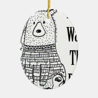 Ornamento De Cerâmica Não acorde o urso