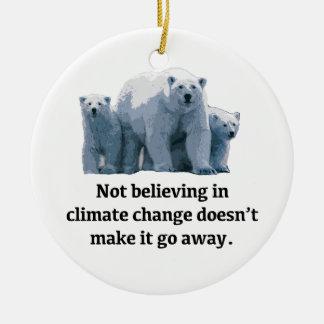 Ornamento De Cerâmica Não acreditando nas alterações climáticas
