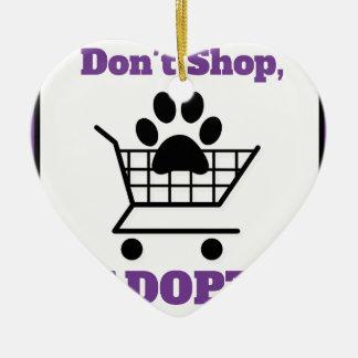 Ornamento De Cerâmica Não comprar adotam