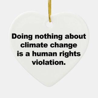 Ornamento De Cerâmica Não fazendo nada sobre alterações climáticas