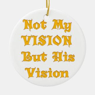 Ornamento De Cerâmica Não minha visão mas sua visão