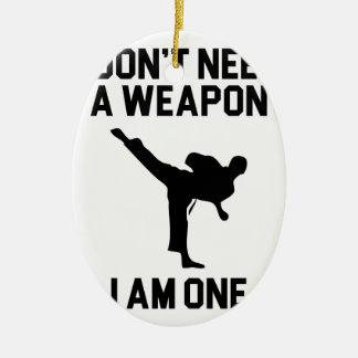 Ornamento De Cerâmica Não precise uma arma