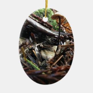 Ornamento De Cerâmica Não tropece o cogumelo