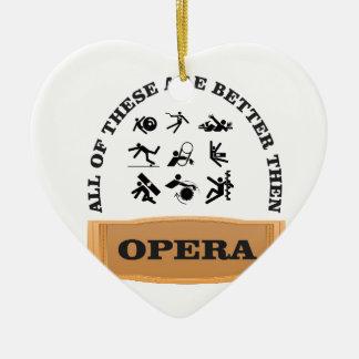Ornamento De Cerâmica não um fã da ópera