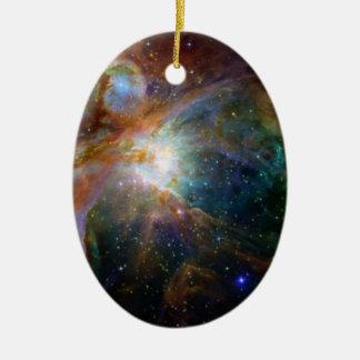 Ornamento De Cerâmica NASA do marrom avermelhado da nebulosa de Orion