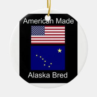 """Ornamento De Cerâmica """"Nascer americano. Alaska produziu"""" bandeiras e"""