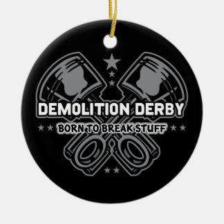 Ornamento De Cerâmica Nascer de Derby da demolição para quebrar o
