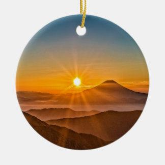 Ornamento De Cerâmica Nascer do sol