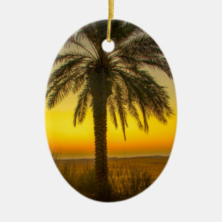 Ornamento De Cerâmica Nascer do sol da palmeira