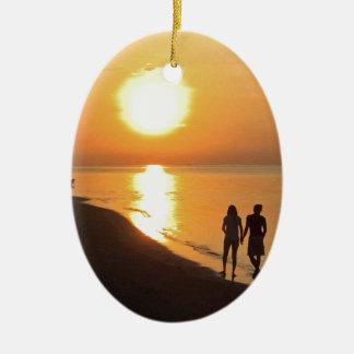 Ornamento De Cerâmica Nascer do sol de Bali na praia
