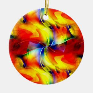 Ornamento De Cerâmica Nascer do sol psicadélico
