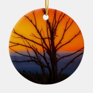 Ornamento De Cerâmica Nascer do sol sobre o design do parque nacional de